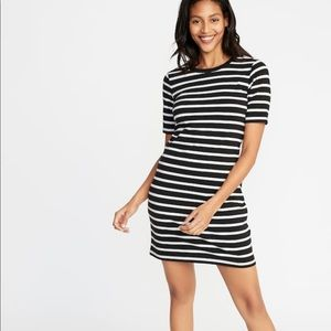 Old Navy Stripped Fitted Crew-Neck Tee Dress